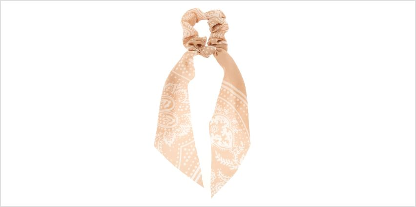 Go to Product: Paisley Satin Scarf Hair Scrunchie - Nude from Claires