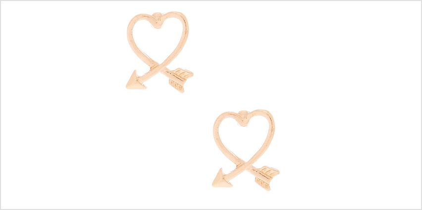 Go to Product: Gold Arrow Heart Stud Earrings from Claires