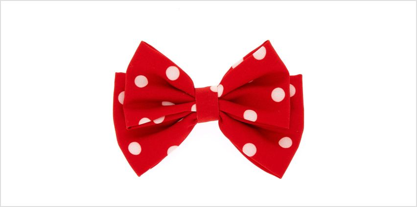 Go to Product: Polka Dot Floppy Bow Hair Clip - Red from Claires