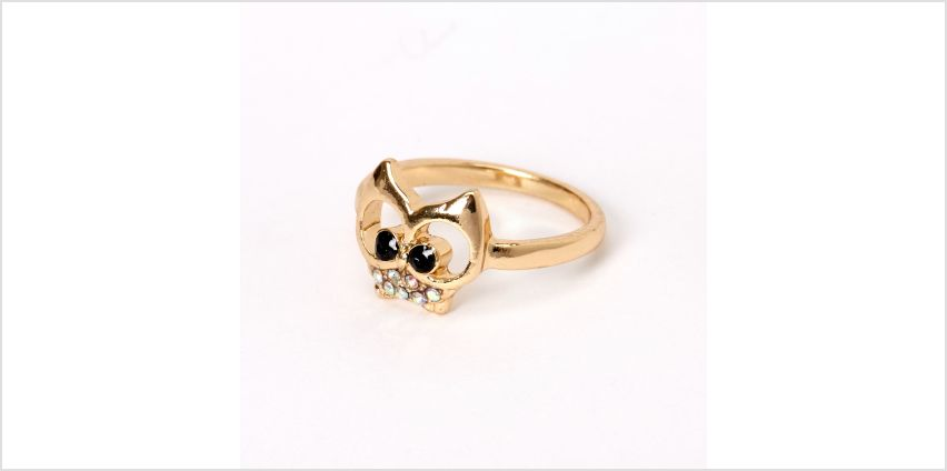 Go to Product: Gold Iridescent Stone Owl Ring from Claires