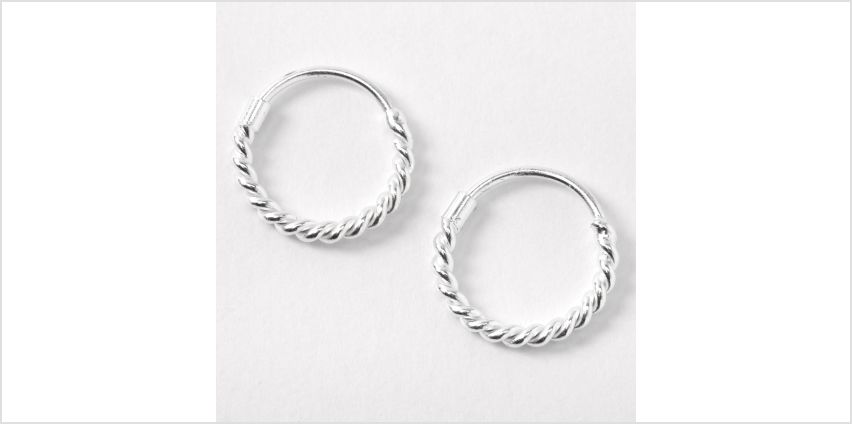 Go to Product: Sterling Silver 12MM Rope Hoop Earrings from Claires