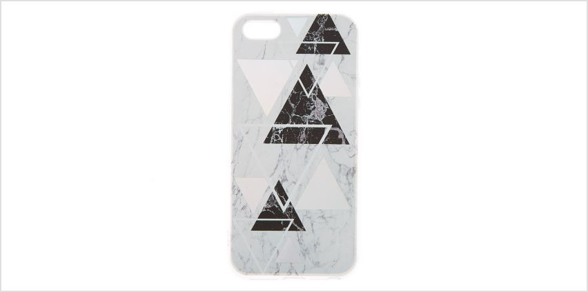 Go to Product: Silver Geometric Marble Phone Case - Fits iPhone 5/5S from Claires
