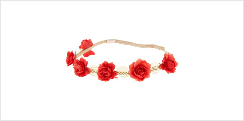 Go to Product: Rose Flower Crown Headwrap - Red from Claires