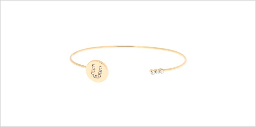 Go to Product: Gold Initial Cuff Bracelet - U from Claires