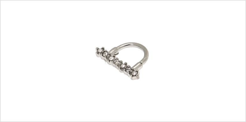 Go to Product: Silver 16G Stone Bar Septum Ring from Claires