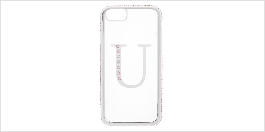 Go to Product: Pink Stone U Initial Phone Case - Fits iPhone 6/7/8 from Claires