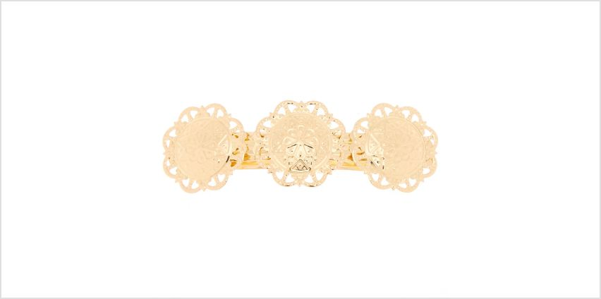 Go to Product: Gold Floral Medallion Hair Barrette from Claires