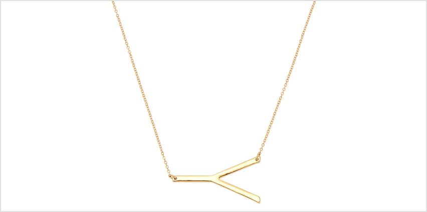 Go to Product: Oversized Initial Pendant Necklace - Y from Claires