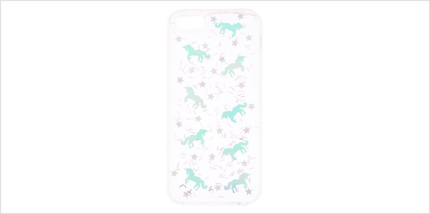Go to Product: Holographic Unicorn Clear Phone Case - Fits iPhone 5/5S/SE from Claires