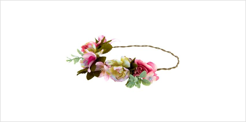 Go to Product: Vintage Succulent Flower Crown Headwrap - Pink from Claires