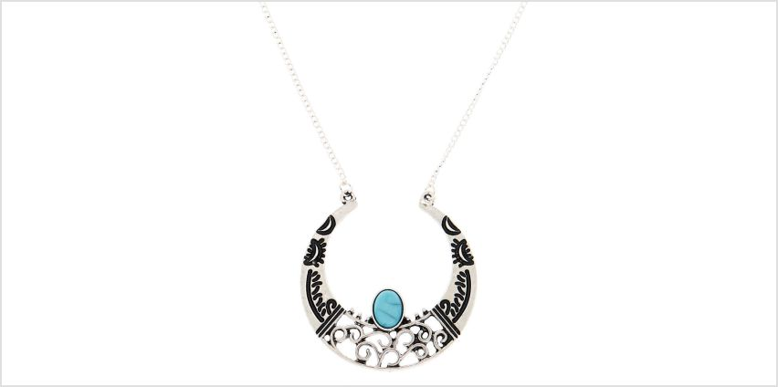 Go to Product: Silver Crescent Moon Long Pendant Necklace from Claires