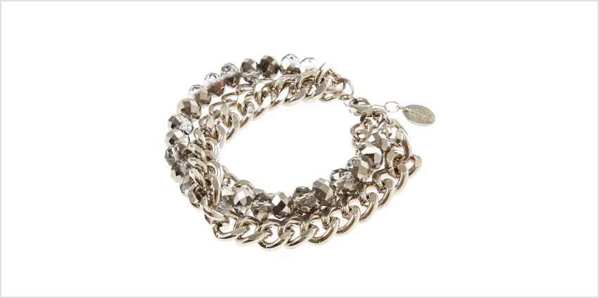Go to Product: Silver Chrome Multi-Layer Chain Link Bracelet from Claires