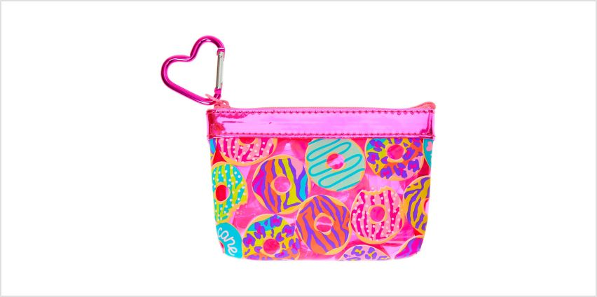 Go to Product: Neon Animal Donut Print Zip Coin Purse - Pink from Claires