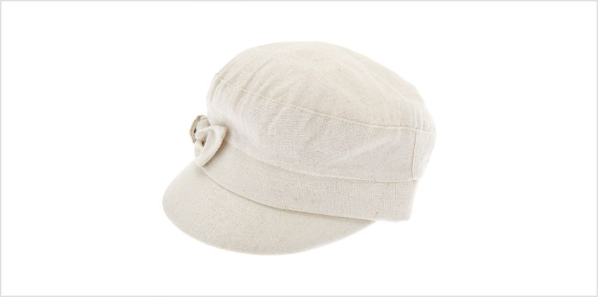 Go to Product: Glitter Bow Captain Hat - Cream from Claires