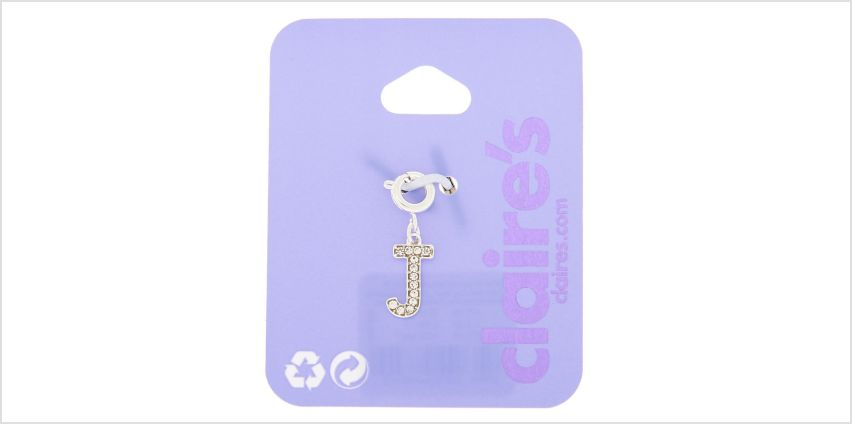 Go to Product: Silver Embellished Initial Bracelet Charm - J from Claires
