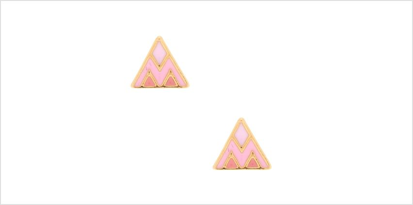 Go to Product: 18kt Gold Plated Triangle Stud Earrings - Pink from Claires