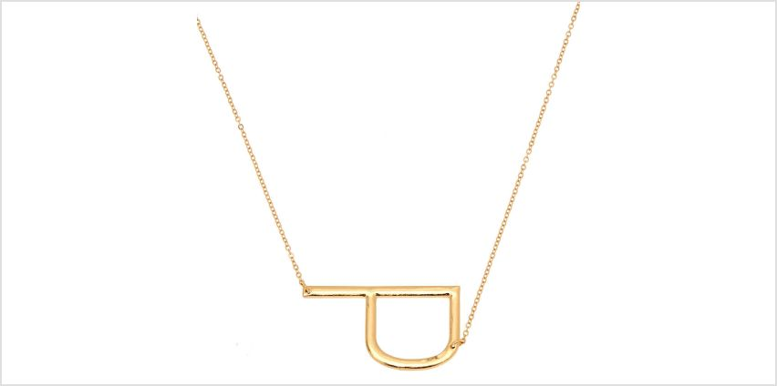 Go to Product: Oversized Initial Pendant Necklace - P from Claires
