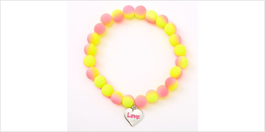Go to Product: Ombre Matte Love Beaded Stretch Bracelet from Claires