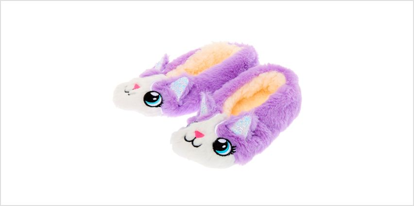 Go to Product: Carly the Cat Slippers - Purple from Claires