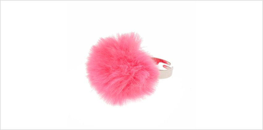 Go to Product: Bright Pink Pom Pom Ring from Claires
