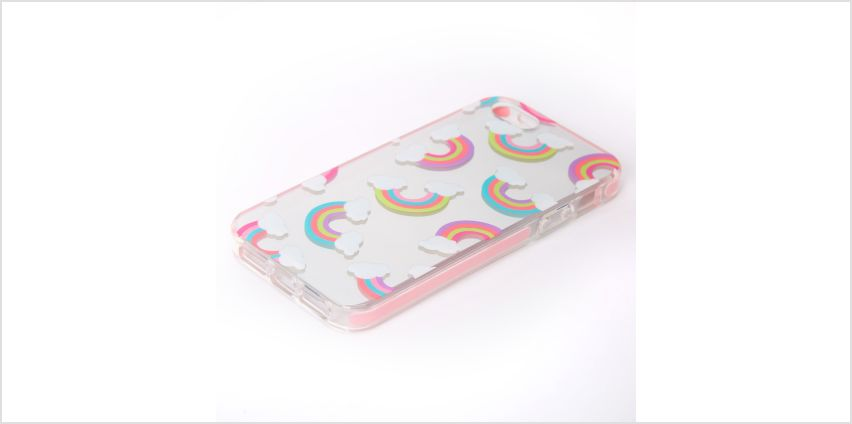 Go to Product: Silver Mirrored Rainbow Phone Case - Fits iPhone 5/5S from Claires