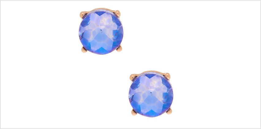 Go to Product: Gold 10MM Round Stone Stud Earrings - Purple from Claires