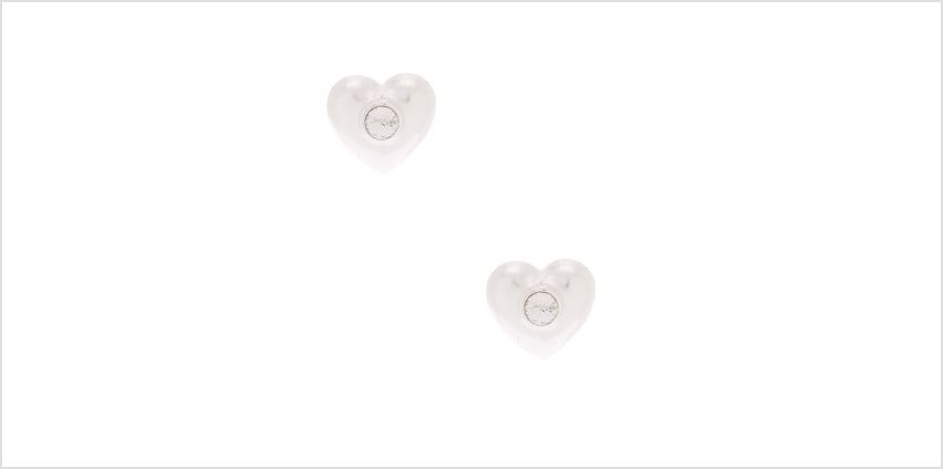 Go to Product: Sterling Silver Crystal Heart Stud Earrings from Claires