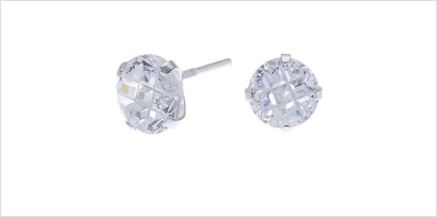Go to Product: Sterling Silver Cubic Zirconia 7MM Round Stud Earrings from Claires