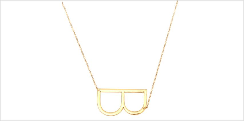 Go to Product: Oversized Initial Pendant Necklace - B from Claires