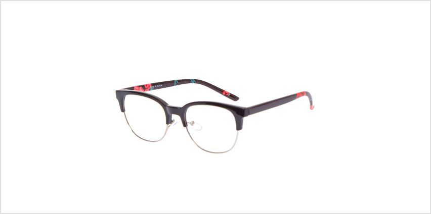 Go to Product: Rose Browline Clear Lens Frames - Black from Claires