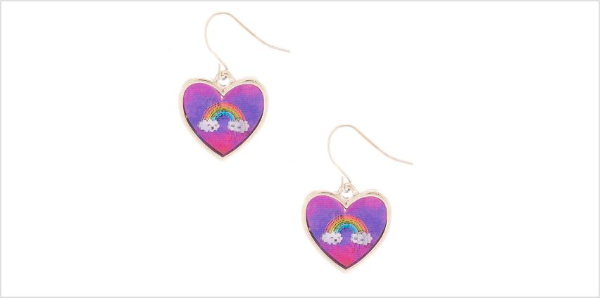 "Go to Product: 1"" Miss Glitter the Unicorn Holographic Drop Earrings - Pink from Claires"