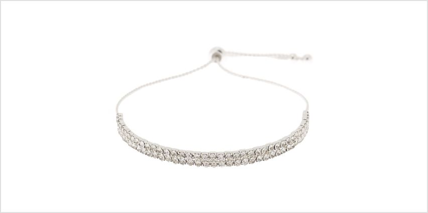 Go to Product: Silver Rhinestone Layered Adjustable Bracelet from Claires