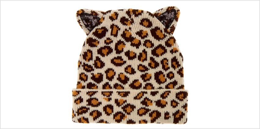 Go to Product: Sequin Leopard Beanie - Brown from Claires