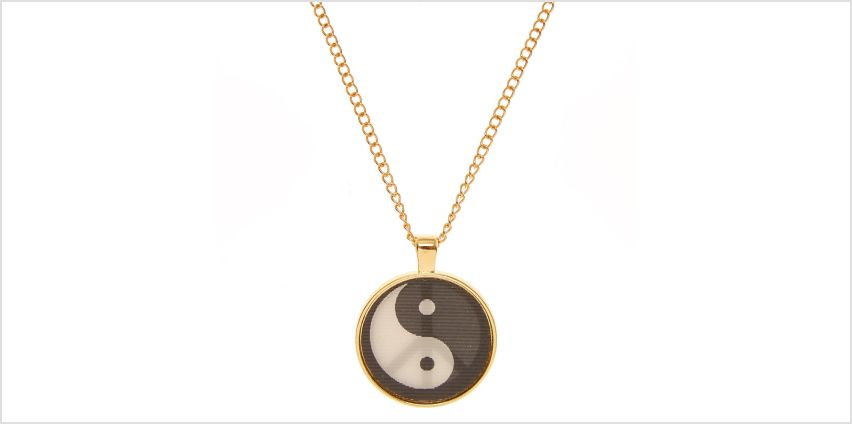 Go to Product: Gold Tone Holographic Peace Pendant Necklace from Claires