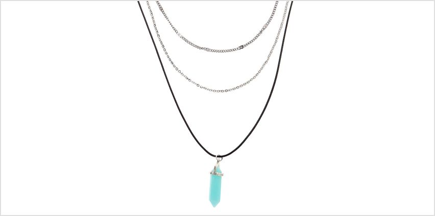 Go to Product: Healing Stone Multi Strand Necklace - Turquoise from Claires