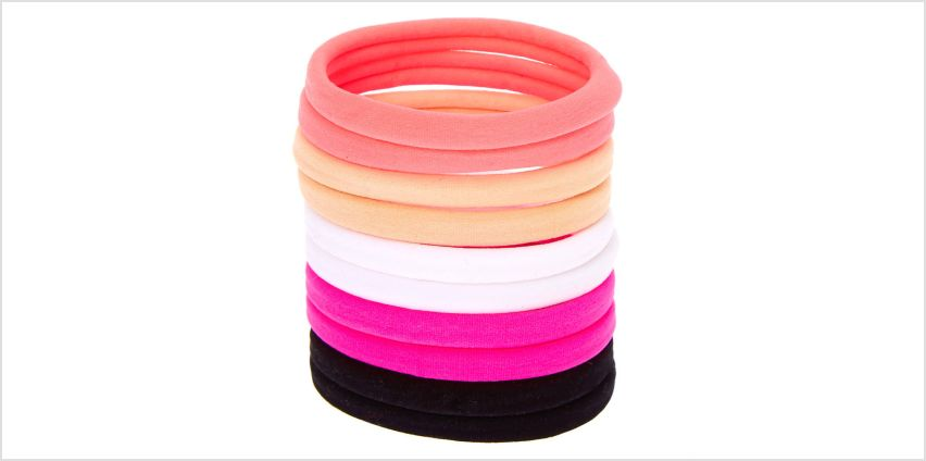 Go to Product: Solid Neon Neutral Rolled Hair Bobbles - 10 Pack from Claires