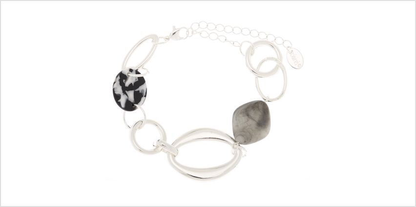 Go to Product: Silver Resin Stone Chain Bracelet from Claires