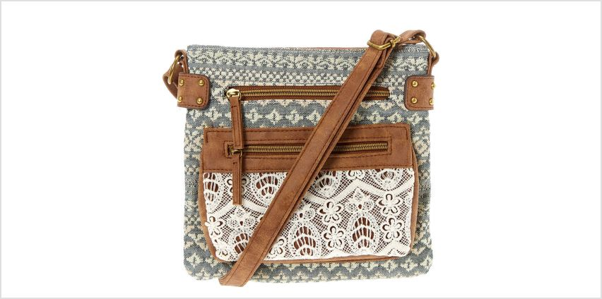 Go to Product: Aztec Country Crochet Midi Crossbody Bag from Claires
