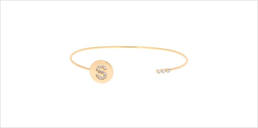 Go to Product: Gold Initial Cuff Bracelet - S from Claires