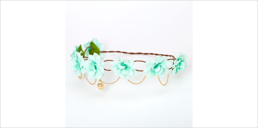 Go to Product: Gold Chain Flower Vine Headwrap - Mint from Claires