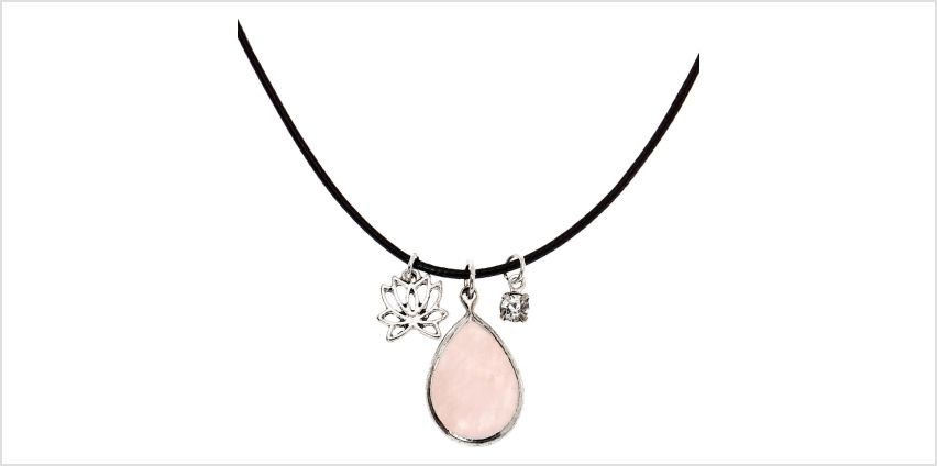 Go to Product: Rose Quartz Teardrop Pendant Necklace from Claires
