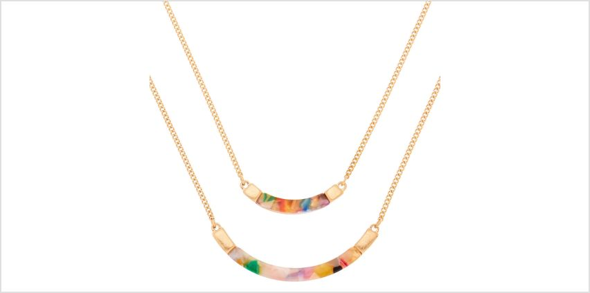 Go to Product: Gold Resin Painted Bib Multi Strand Necklace from Claires