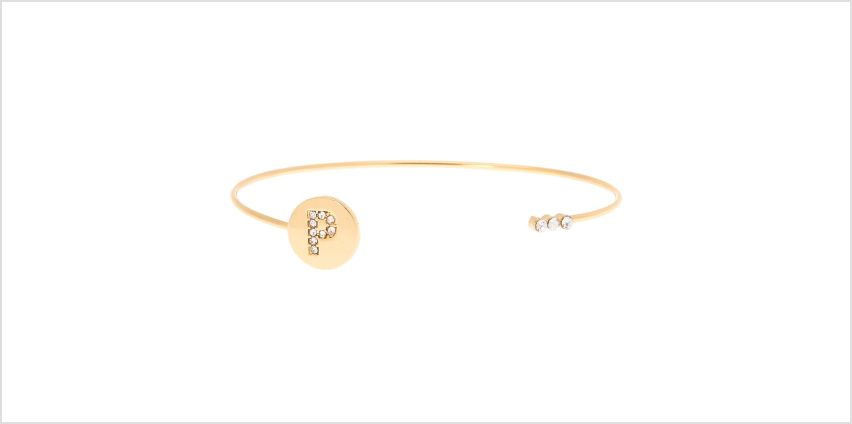 Go to Product: Gold Initial Cuff Bracelet - P from Claires