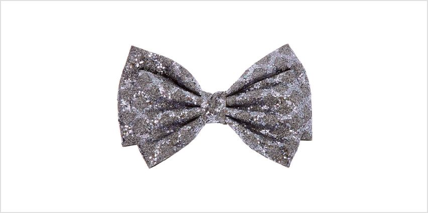 Go to Product: Christmas Glitter Hair Bow Clip - Grey from Claires