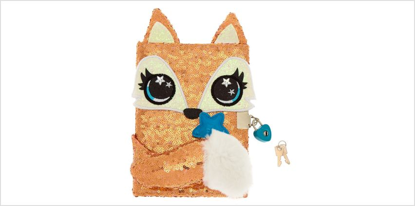 Go to Product: Farrah the Fox Sequin Lock Diary - Rose Gold from Claires