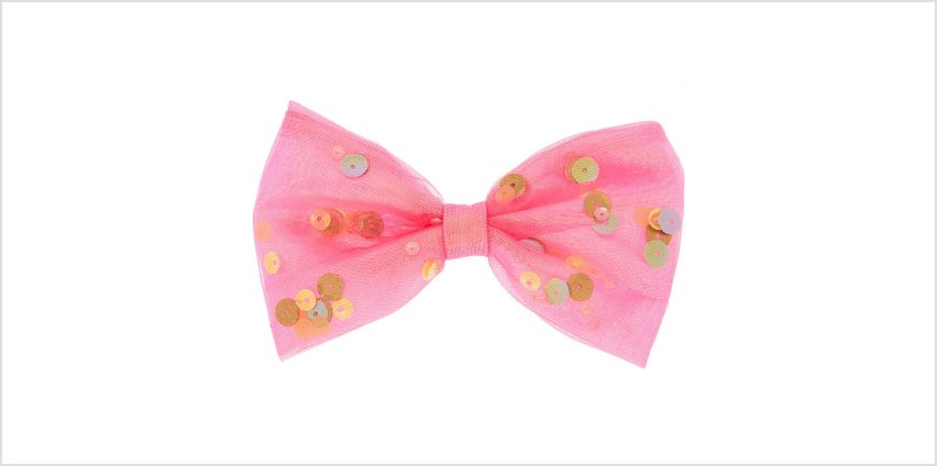 Go to Product: Shaker Sequin Hair Bow Clip - Pink from Claires