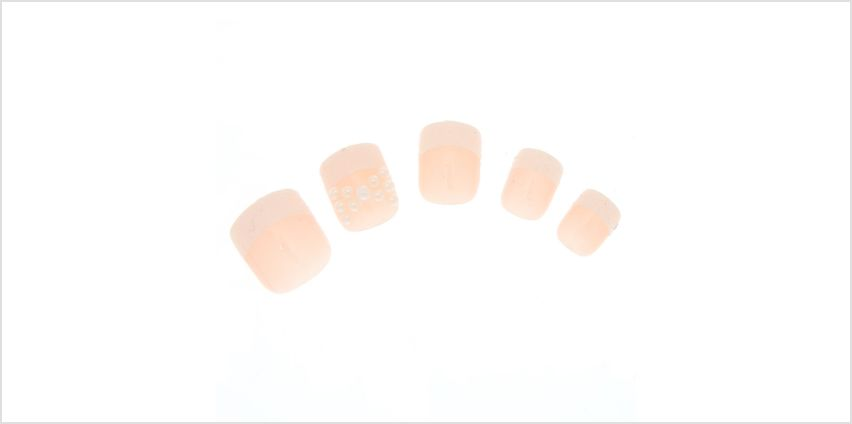 Go to Product: Pearl Bow Glitter French Tip Square Faux Nail Set - 24 Pack from Claires