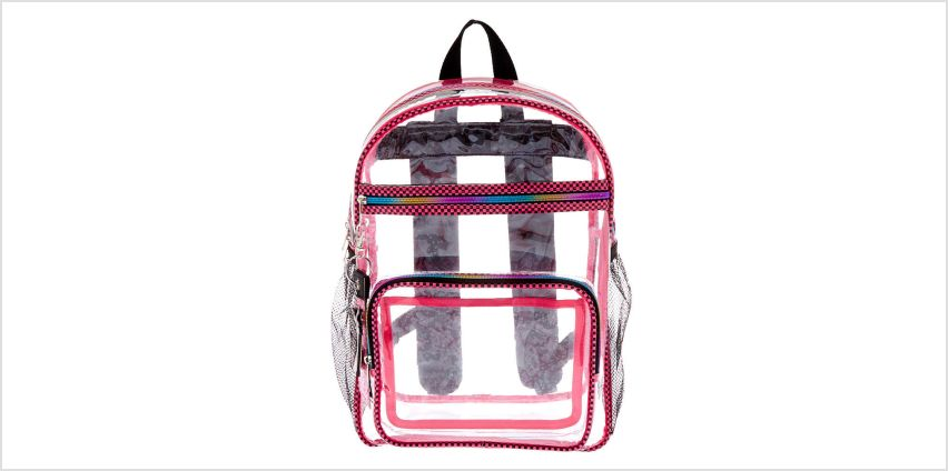 Go to Product: Checkered Trim Backpack - Clear from Claires