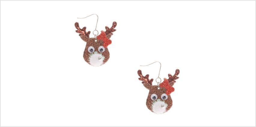 Go to Product: Novelty Reindeer Drop Earrings- Brown from Claires