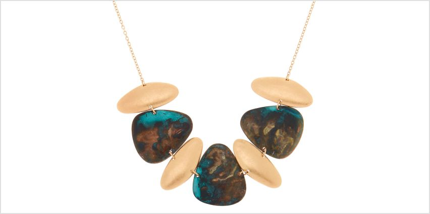Go to Product: Gold Patina Pebble Statement Necklace from Claires